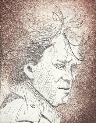 Drawing - Untitled Brown by Erik Paul
