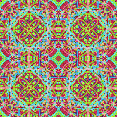 Digital Art - Untitled -c- Soup -multi-pattern- by Coded Images