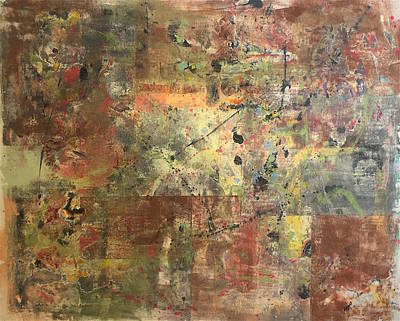 Mixed Media - Untitled Clay Monotype by William Renzulli