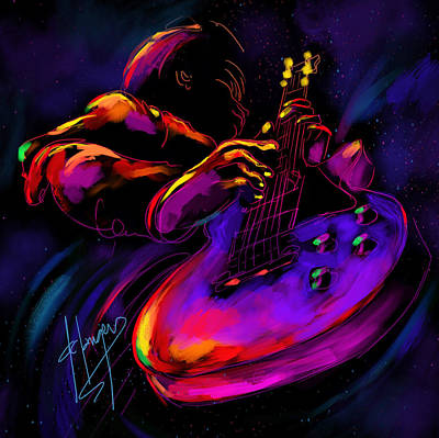 Untitled Guitar Art Art Print