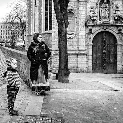 Woman And Child Art Print by Jimmy Karlsson