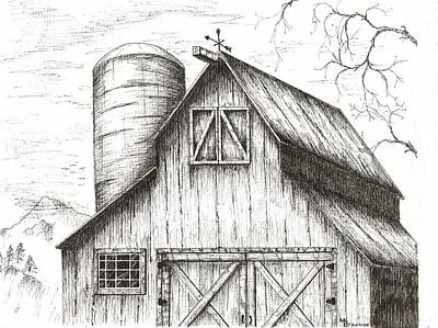 Old Barns Drawings Page 2 Of 5 Fine Art America