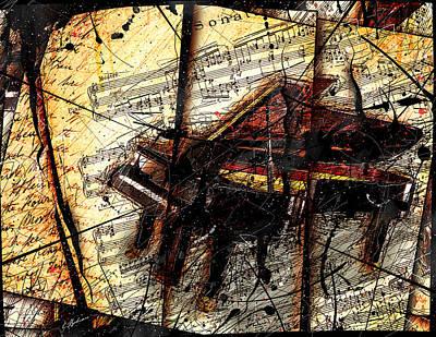 Mozart Digital Art - Untitled No. 1 by Gary Bodnar