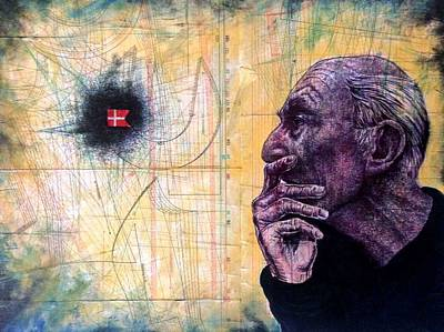 Ball Point Pen Painting - Untitled by Ole Hedeager Mejlvang