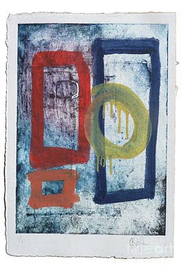 Collagraph Painting - Untitled Reworked Collagraph 2 by Timothy Beighton