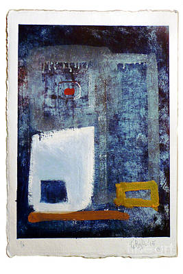 Collagraph Painting - Untitled Reworked Collagraph 3 by Timothy Beighton