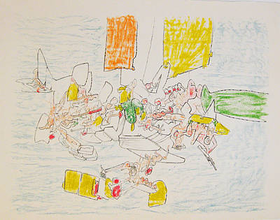 Matta Painting - Untitled by Roberto Matta