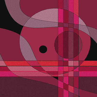 Color Block Digital Art - Untitled Sixth - Merlot by Val Arie