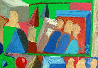 Abstract Painting - Untitled Surreal Abstract #2 by Greg Mason Burns