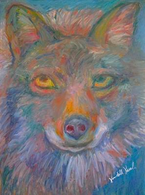 Painting - Coyote Chill Stage One by Kendall Kessler