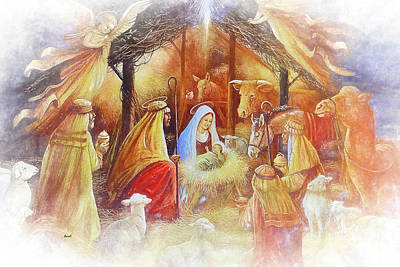 Digital Art - Unto Us A Savior Is Born by Dennis Baswell