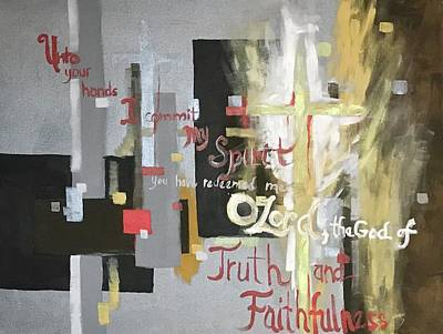 Painting - Unto You O Lord by Donna Pierce-Clark