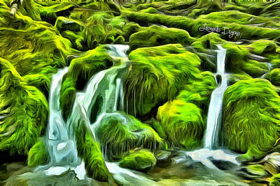 Fountain Painting - Untouched Nature by Leonardo Digenio
