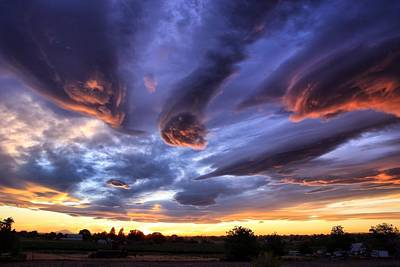 Alien Cloud Formations Art Print by Lynn Hopwood