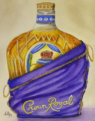 Painting - Unveil The Crown .... Whisky by Kelly Mills