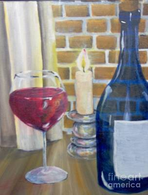 Art Print featuring the painting Unwind by Saundra Johnson