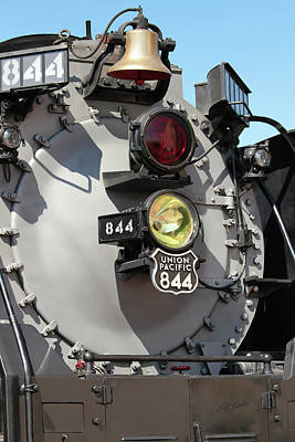 Photograph - Up 844 Bell And Headlights by Bill Kesler