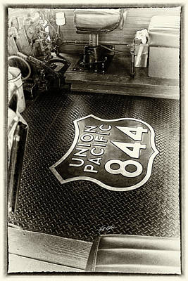 Photograph - Up 844 Floor Emblem - Sepia Tone by Bill Kesler