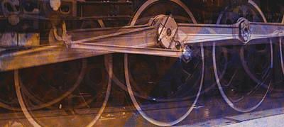 Digital Art - Up 844 Warped Wheels by Bartz Johnson