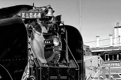 Photograph - Up 844 With Friends - Black-and-white by Bill Kesler