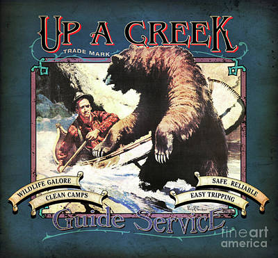 Up A Creek 1 Art Print