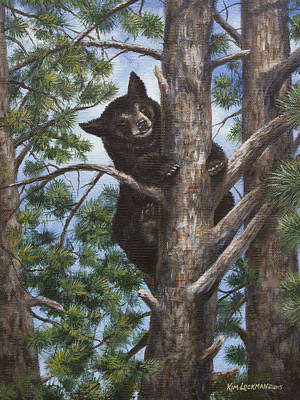 Art Print featuring the painting Up A Tree by Kim Lockman