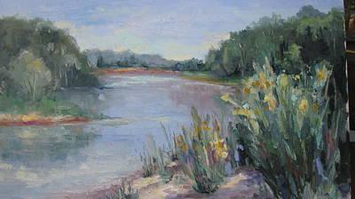 Painting - Up At The Sandbar by Sharon Franke