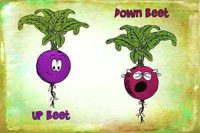 Digital Art - Up Beet Down Beet by John Haldane