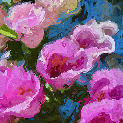 Up Close With The Foxgloves Art Print