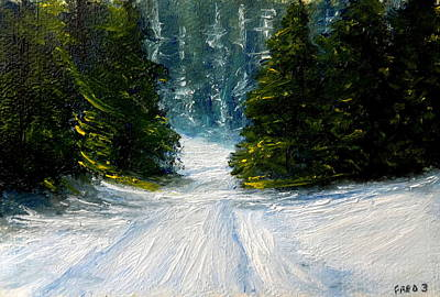 Painting - Up Country Snow by Fred Wilson