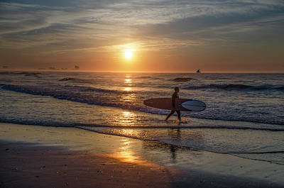 Photograph - Up Early To Catch The Surf - Ocean City New Jersey by Bill Cannon
