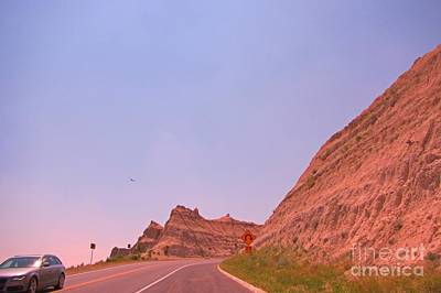 State Of South Dakota Painting - Up Hill In The Badlands Of South Dakota by John Malone