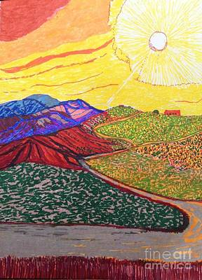 Open Road Drawing - Up In The Sepulveda  by Ishy Christine Degyansky
