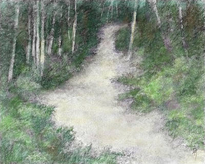 Digital Art - Up Into The Woods Colorized by David King