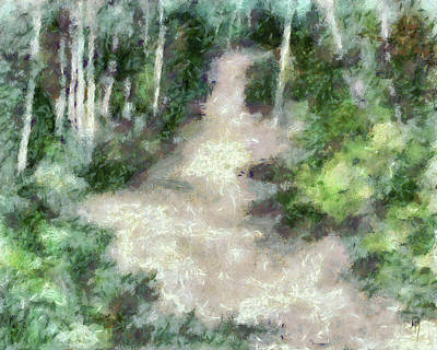Digital Art - Up Into The Woods Dop by David King