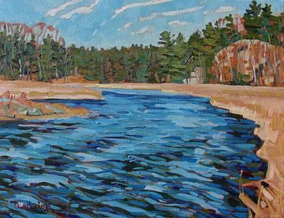 Up Jones Creek With A Paddle Art Print