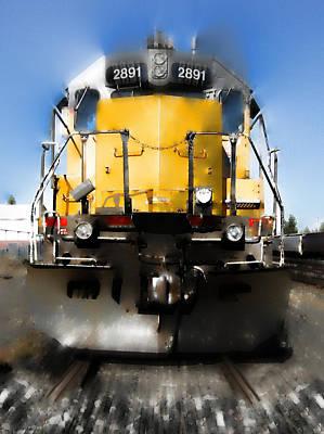 Railroad Workers Photograph - U. P. Locomotion by Daniel Hagerman