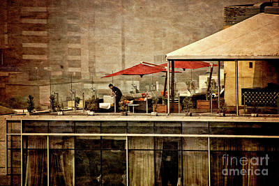 Up On The Roof - Miraflores Peru Art Print