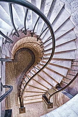 Spiral Staircase Photograph - Up Or Down? by Tom Mc Nemar
