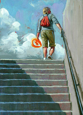 Up Stairs Art Print