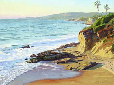 Laguna Beach Painting - Up The Coast by Steve Simon