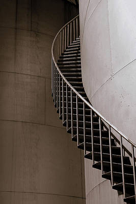 Art Print featuring the photograph Up The Down Stairs by Irma BACKELANT GALLERIES