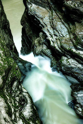 Photograph - Up the Down Waterfall by Howard Yermish