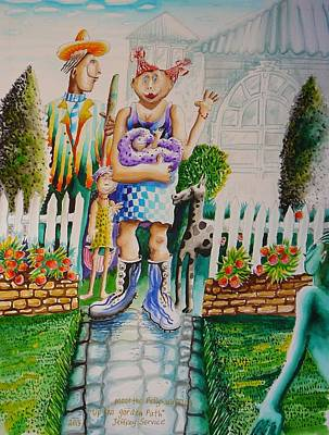 Painting - Up The Garden Path by Jeffrey Service