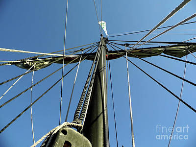 Photograph - Up The Pintas Mast by D Hackett