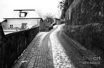 Up The Road In Salzburg Art Print by John Rizzuto
