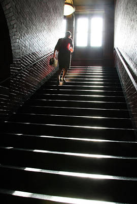 Photograph - In A Stairwell by Cora Wandel
