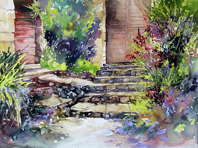 Painting - Up The Stairs To The Left by Rae Andrews