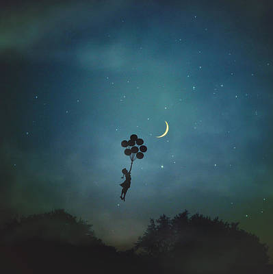 Up Up And Away Art Print by Carrie Ann Grippo-Pike