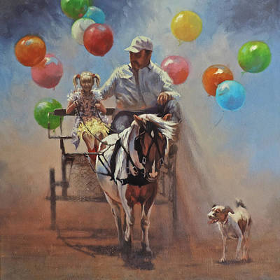 Painting - Up Up And Away by Mia DeLode